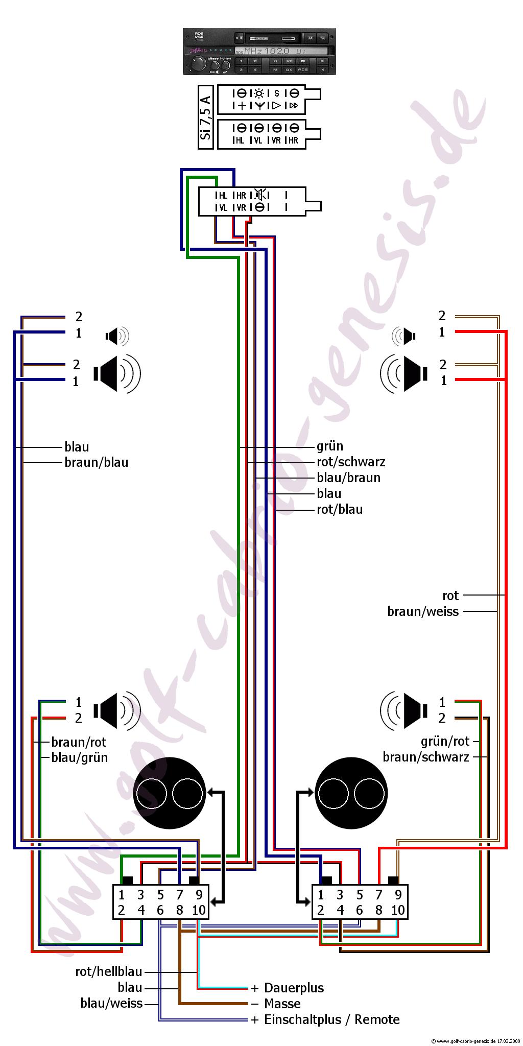 Datei:Schaltplan-genesis soundsystem.png – Golf 1 und Golf Cabrio Wiki