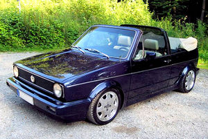 That's what it's all about: VW Golf 1 Cabriolet...