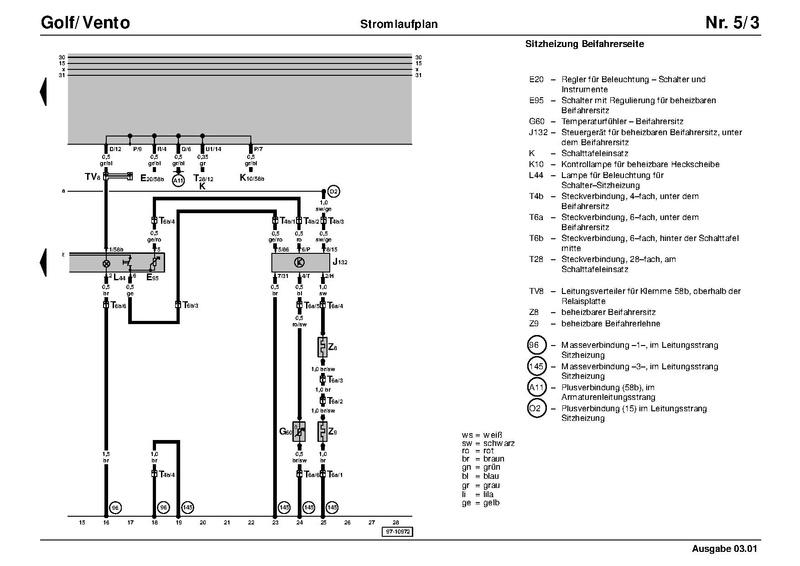 Stromlaufplan fahrerseite golf 4 turschloss defekt trotz neuem. Datei Schaltplan G1c Sitzheizung 91 Pdf Golf 1 Und Golf Cabrio Wiki