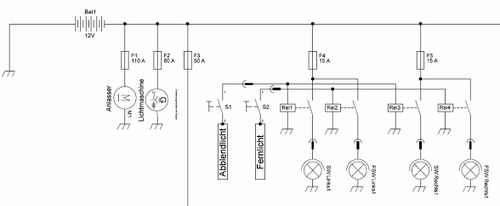 Brandschutz - Hauptsicherungskasten auf der Batterie – Golf 1 und ...